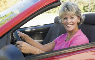 Woman Driving Used Car