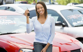Woman Buying Used Car